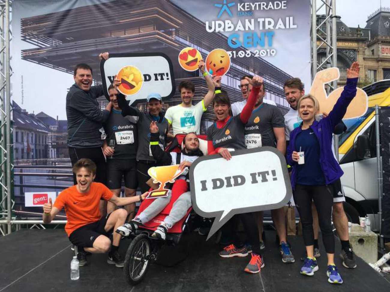 Participation de Durabrik et Brent à l'Urban Trail de Gand