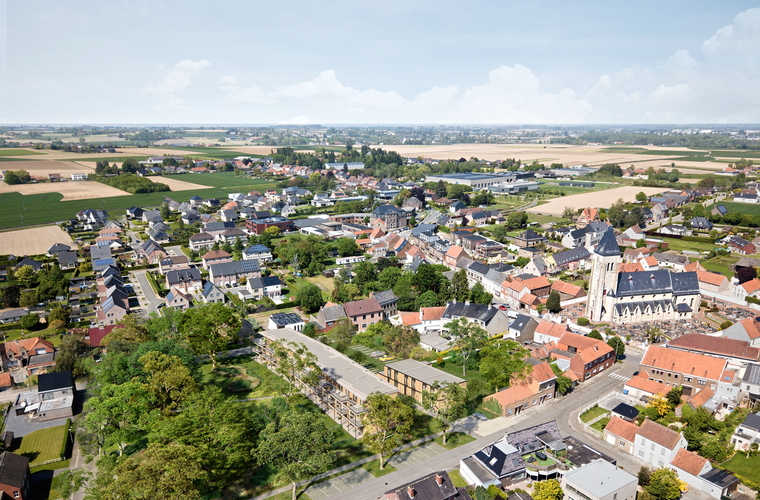 Wortegem-Petegem - Krauwelstraat/Petegemplein - Kastanjehof